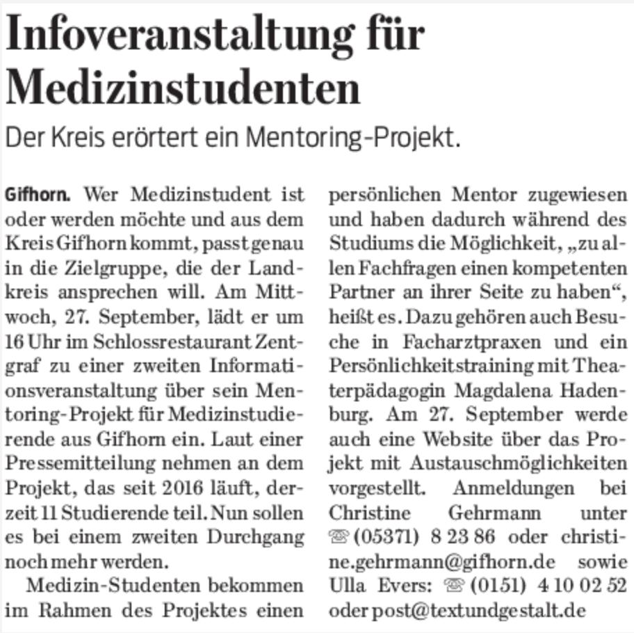 Gifhorner Rundschau, 19.09.2017