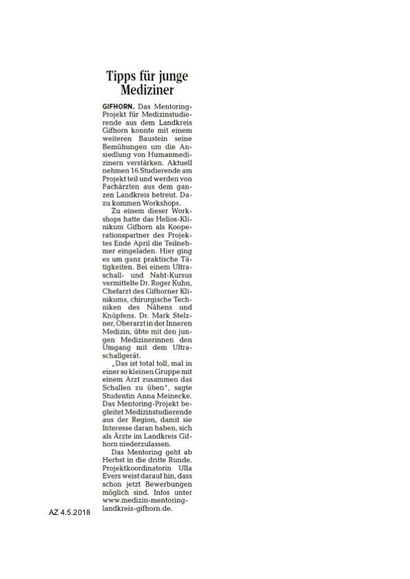 Artikel NAht AZ 4.5.2018