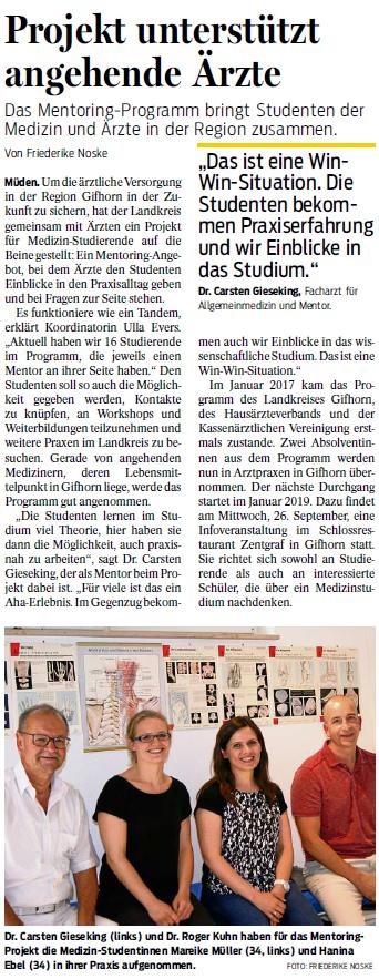 Gifhorner Rundschau 31.08.2018